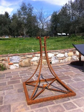 Porta Ombrellone Ferro Battuto Firenze