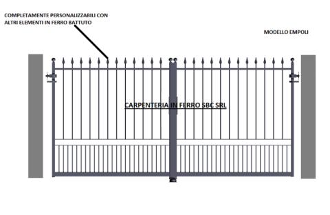 cancello in ferro battuto modello empoli