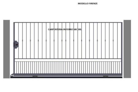 Cancello in Ferro Battuto Scorrevole Modello Firenze