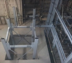 Partenza - Carpenteria metallica per contenimento ascensore e vano scale