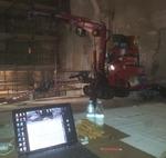 In fase di lavorazione - Carpenteria metallica per contenimento ascensore e vano scale