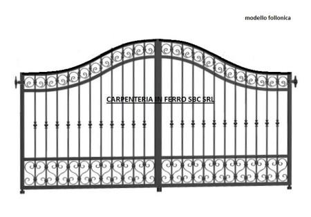 cancello in ferro battuto modello follonica