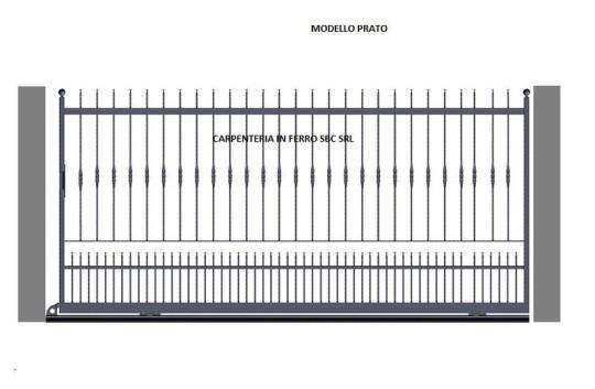 Cancello in Ferro Battuto Scorrevole Modello Prato
