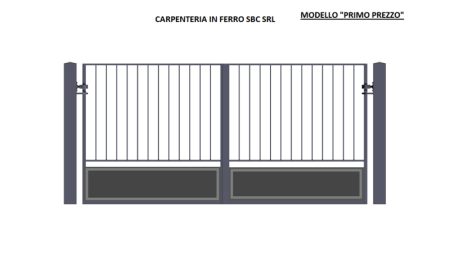 """Cancello Modello """"Primo Prezzo"""" - Modello Economico Fornitura e Posa in Opera"""