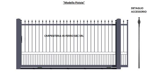 Cancello in Ferro Scorrevole modello Pistoia